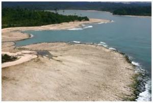 Permukaan tanah yang naik di kepulauan Simeulue