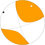 Mekanisme fokal gempa yunani 24 Mei 2014 (Sumber: USGS)