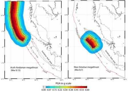 Peta Gempa metode DSHA