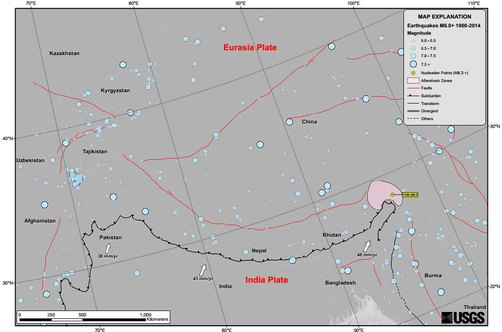 sejarah gempa di nepal