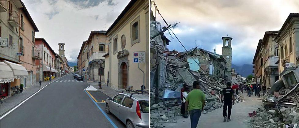 kerusakan jalan akibat gempa