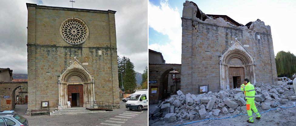 kerusakan gereja akibat gempa