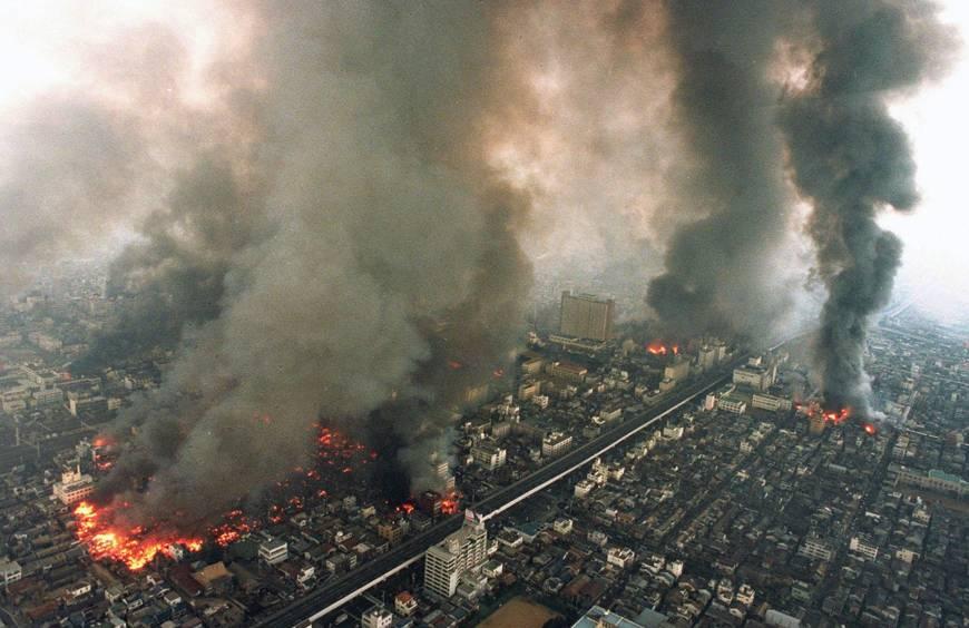 kebakaran gempa kobe