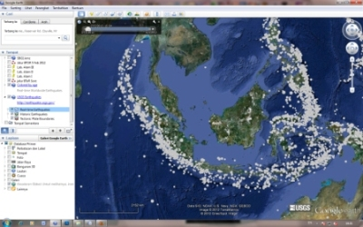 google earth gempa