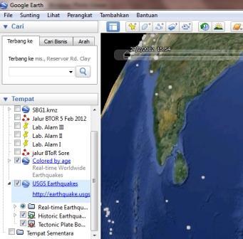 google earth gempa