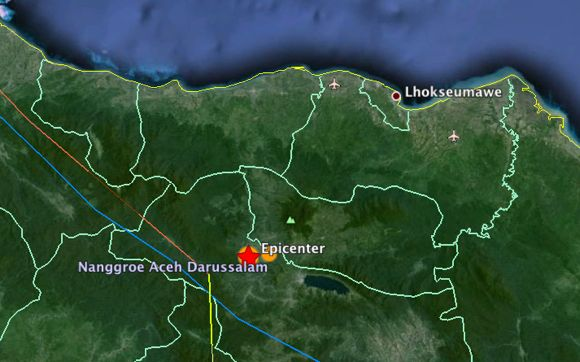 Gempa Sesar Sumatra: Bener Meriah 02 Juli 2013