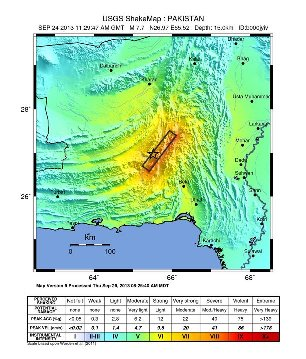 Gempa Bumi Darat Pakistan (24 September 2013)