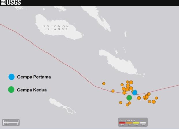 gempa bumi kembar