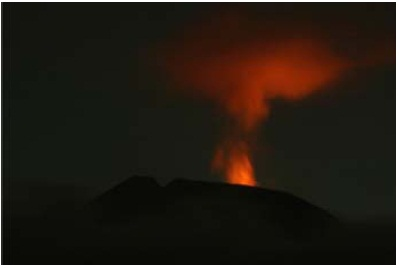 letusan gunung api slamet