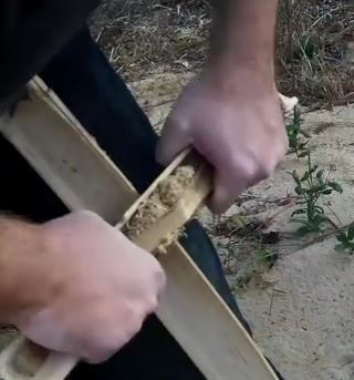 membuat api bambu