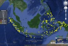 data gempa Indonesia sejak 1915-2015
