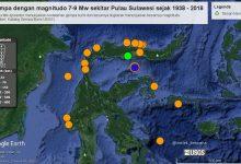 sejarah gempa Palu 7 – 9 Mw dari 1938 sampai 2018
