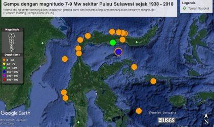 Melihat Sejarah Gempa Merusak Sekitar Pulau Sulawesi 1938-2018